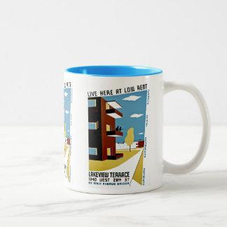 Viva aquí en de alquiler moderado tazas de café