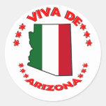 Viva Arizona Round Stickers