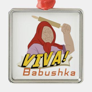 Viva Babushka Metal Ornament