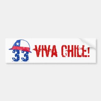 ¡Viva Chile! Pegatina De Parachoque