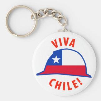 Viva Chile! Basic Round Button Keychain