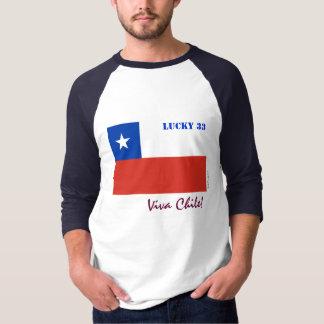 Viva Chile Lucky 33 Baseball Jersey T-Shirt