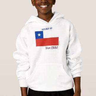 Viva Chile Lucky 33 Kid's Hoodie