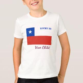 Viva Chile Lucky 33 Kid's Ringer T-Shirt