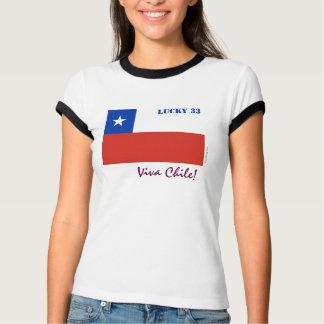 Viva Chile Lucky 33 Ringer T-Shirt