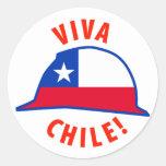 ¡Viva Chile! Pegatina Redonda