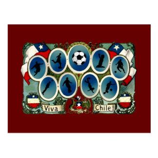 Viva Chile soccer futbol gifts Postcard