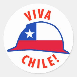 Viva Chile! Classic Round Sticker