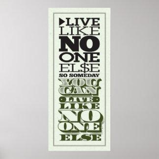 Viva como ninguno otro póster