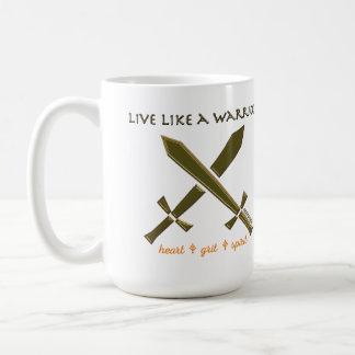 Viva como una taza del guerrero
