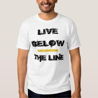 Viva debajo de la línea unisex poleras