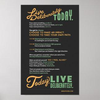 Viva deliberadamente: Un manifiesto Póster