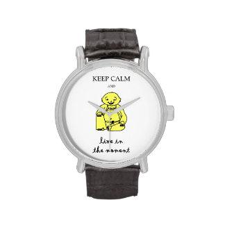 Viva en el momento relojes de pulsera
