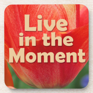 Viva en el tulipán del momento w/vibrant posavaso