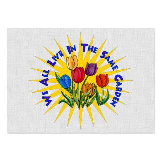 Viva en jardín de la paz tarjetas de visita grandes