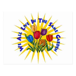 Viva en jardín de la paz tarjeta postal