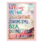 Viva en la sol postal