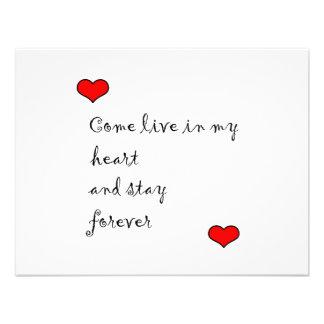 Viva en mi corazón comunicados