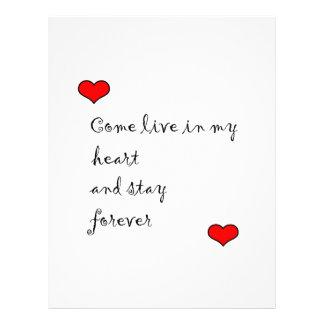 Viva en mi corazón plantilla de membrete