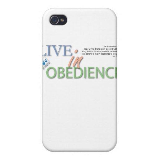 Viva en obediencia iPhone 4/4S carcasas