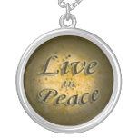 Viva en paz colgantes personalizados