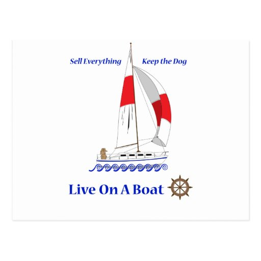 Viva en un barco postal