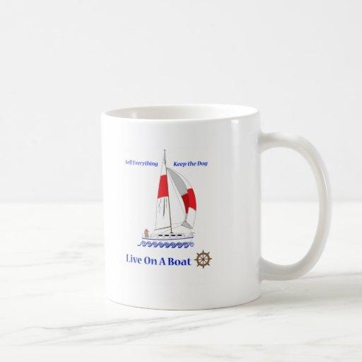 Viva en un barco taza de café