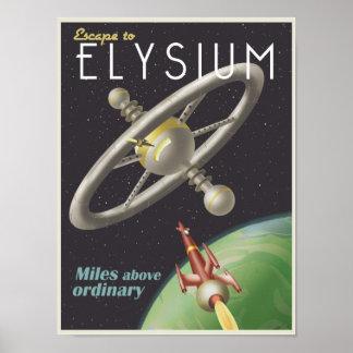 Viva en una estación espacial póster