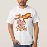 Viva Espana con la camiseta del fútbol del pulpo Remera