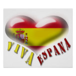 Viva Espana Spain Coat of Arms Heart Print