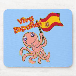 Viva Espana with Octopus Soccer Tshirt Mouse Pad