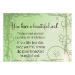 Viva feliz nunca después de que respire el mensaje tarjeta de visita