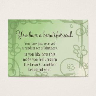 Viva feliz nunca después de que respire el mensaje tarjeta de negocios
