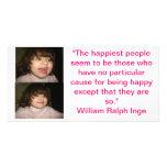 Viva feliz tarjetas con fotos personalizadas
