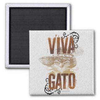 Viva Gato 2 Imanes De Nevera