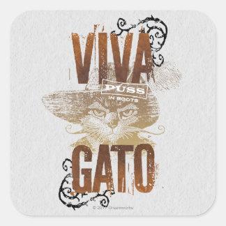 Viva Gato 2 Square Sticker