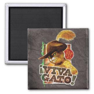 Viva Gato! 2 Inch Square Magnet