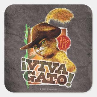 ¡Viva Gato! Pegatina Cuadrada