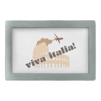 Viva Italia Rectangular Belt Buckles