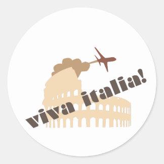 Viva Italia Etiqueta Redonda