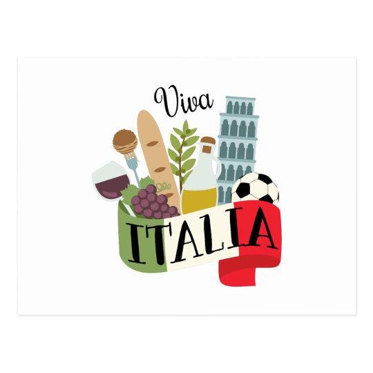 viva italia postcard