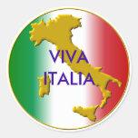viva italia round stickers