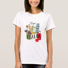 Viva Italia T-shirt at Zazzle
