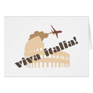 Viva Italia Tarjeta De Felicitación