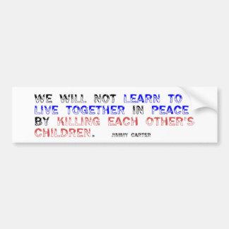 Viva junto en paz etiqueta de parachoque