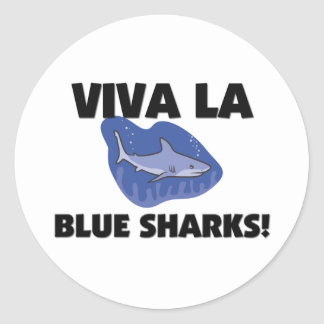 Viva La Blue Sharks Classic Round Sticker