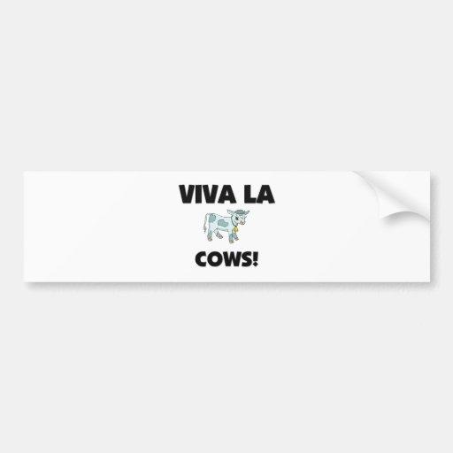Viva La Cows Bumper Sticker