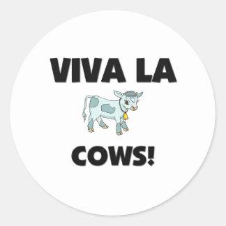 Viva La Cows Classic Round Sticker