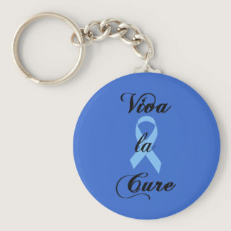 Viva la Cure - Blue Ribbon Keychain