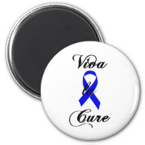 Viva la Cure - Blue Ribbon Magnet